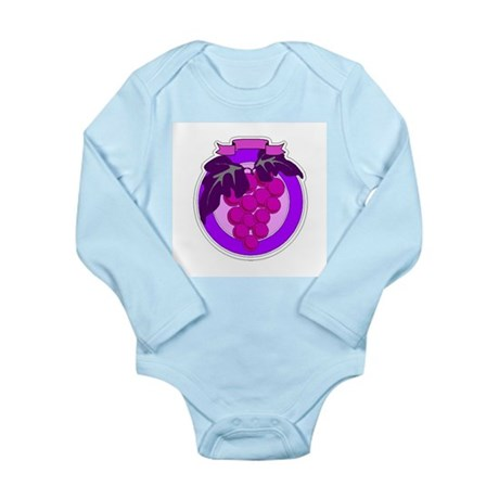 Purple Grapes Long Sleeve Infant Bodysuit