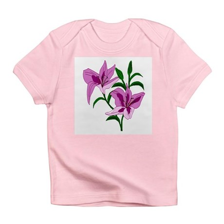Pink Lilies Infant T-Shirt
