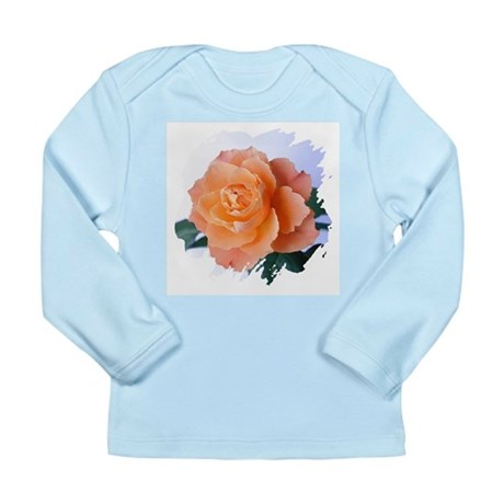 Orange Rose Long Sleeve Infant T-Shirt