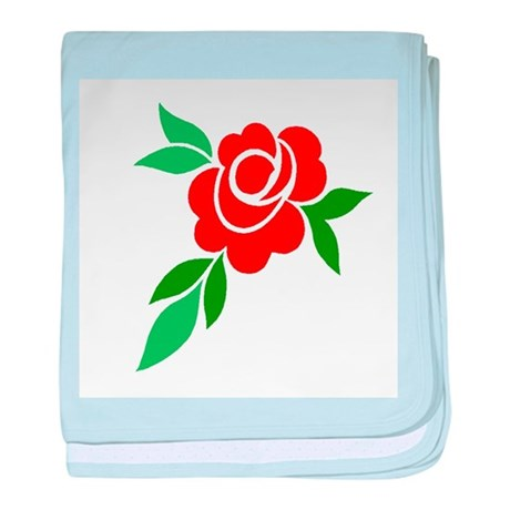 Red Rose baby blanket