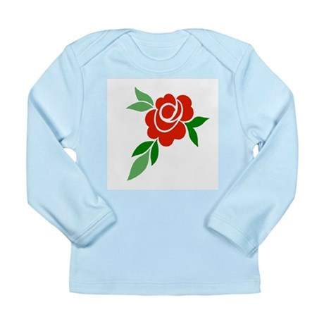 Red Rose Long Sleeve Infant T-Shirt