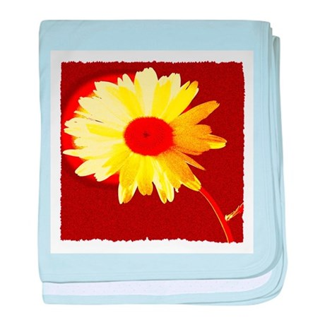 Hot Daisy baby blanket