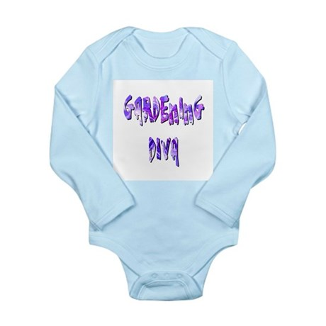 Gardening Diva Long Sleeve Infant Bodysuit