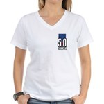 5.0 Mustang Women's V-Neck T-Shirt