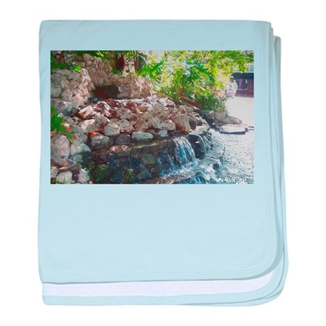 Garden Waterfall baby blanket