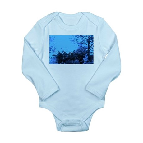 Blue Garden Long Sleeve Infant Bodysuit