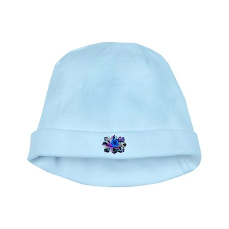 Blue Flower baby hat