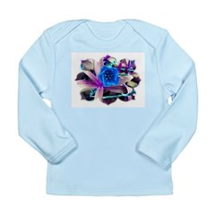 Blue Flower Long Sleeve Infant T-Shirt