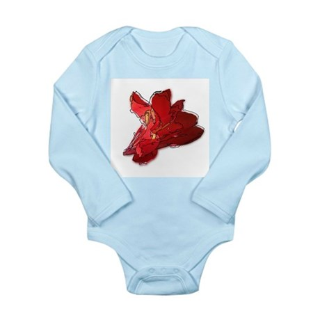 Lined Canna Long Sleeve Infant Bodysuit