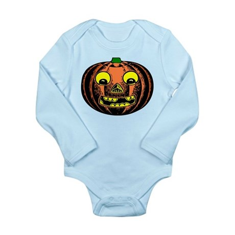 Vintage Jack-O-Lantern Long Sleeve Infant Bodysuit