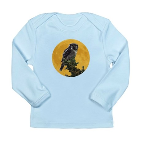 Owl and Moon Long Sleeve Infant T-Shirt