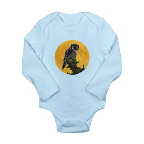 Owl and Moon Long Sleeve Infant Bodysuit