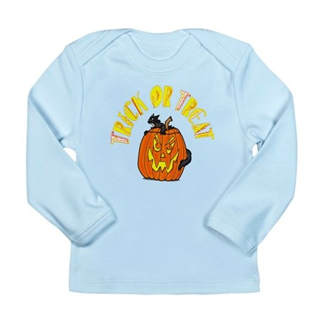 Jack o Lantern Cat Long Sleeve Infant T-Shirt
