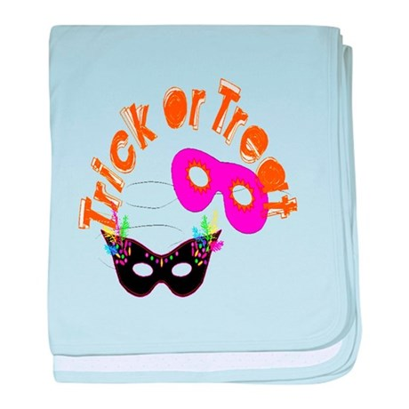 Trick or Treat Masks baby blanket