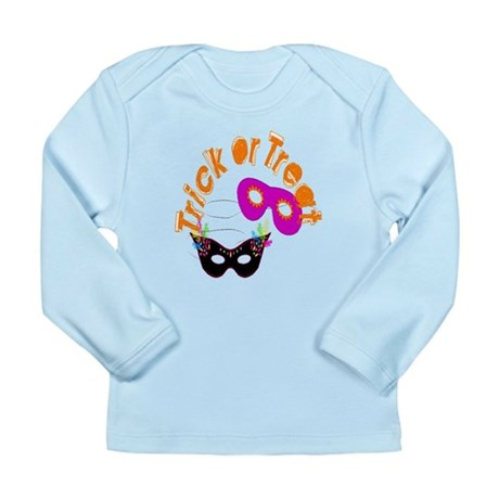 Trick or Treat Masks Long Sleeve Infant T-Shirt