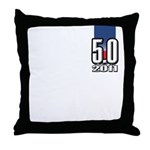 5.0 Mustang Throw Pillow