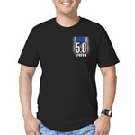 5.0 Mustang Men's Fitted T-Shirt (dark)