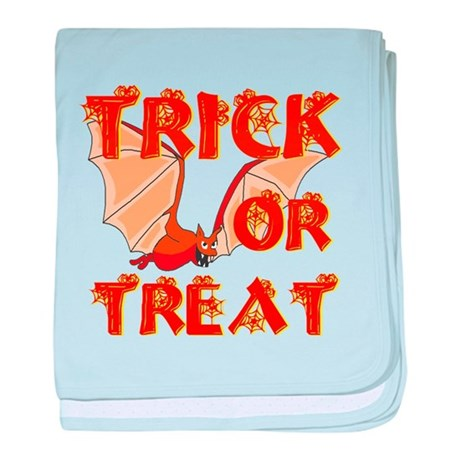 Trick or Treat Bat baby blanket