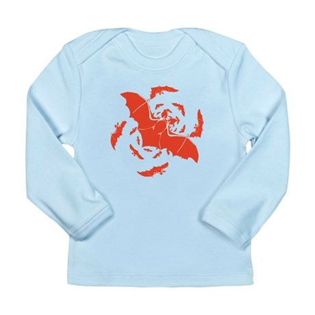 Orange Bats Long Sleeve Infant T-Shirt