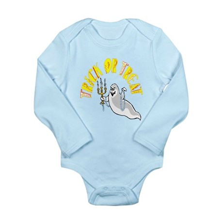 Prankster Ghost Long Sleeve Infant Bodysuit
