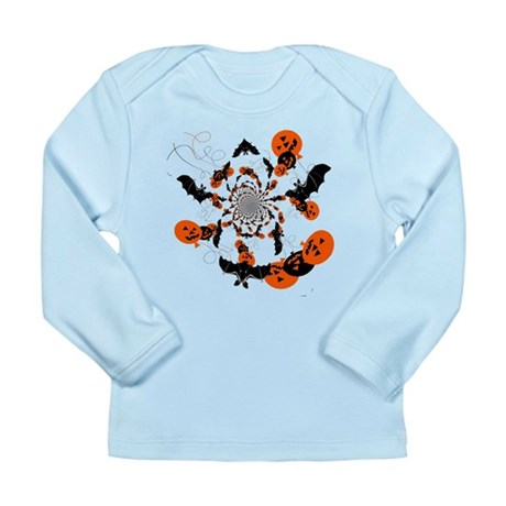Pumpkin Bats Long Sleeve Infant T-Shirt