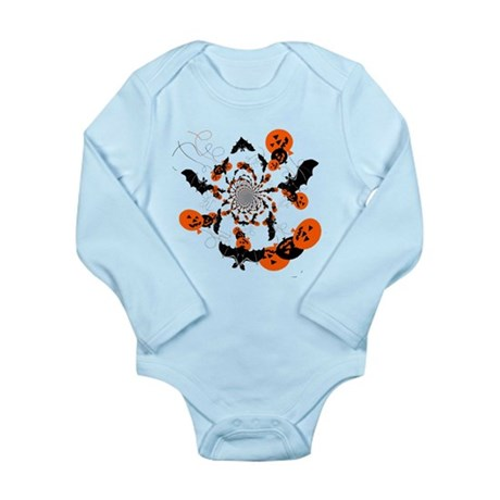 Pumpkin Bats Long Sleeve Infant Bodysuit