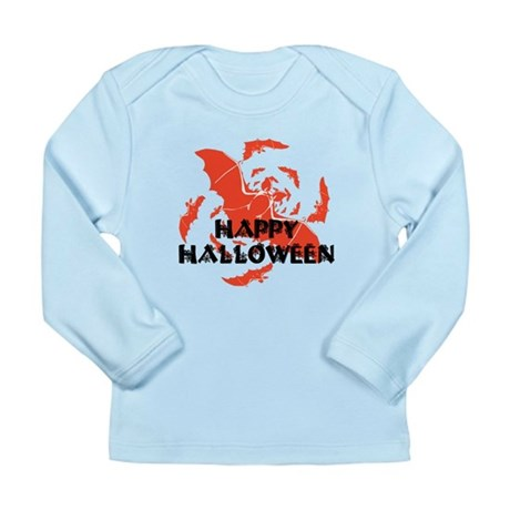 Happy Halloween Bats Long Sleeve Infant T-Shirt