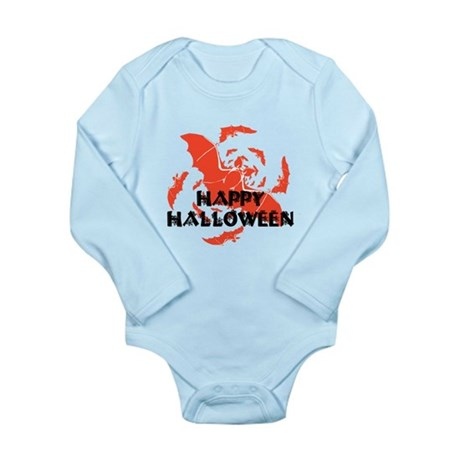 Happy Halloween Bats Long Sleeve Infant Bodysuit