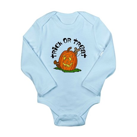 Pumpkin Mice Long Sleeve Infant Bodysuit