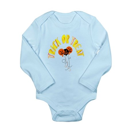 Trick or Treat Pumpkins Long Sleeve Infant Bodysui