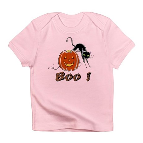 Halloween Pumpkin and Cat Infant T-Shirt