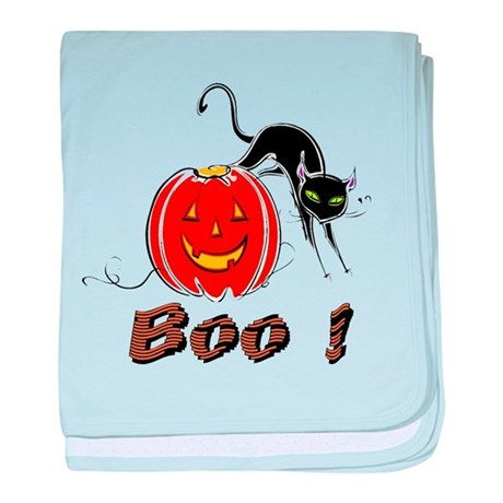 Halloween Pumpkin and Cat baby blanket