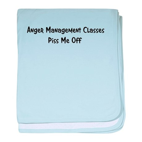 Anger Management Classes Piss baby blanket
