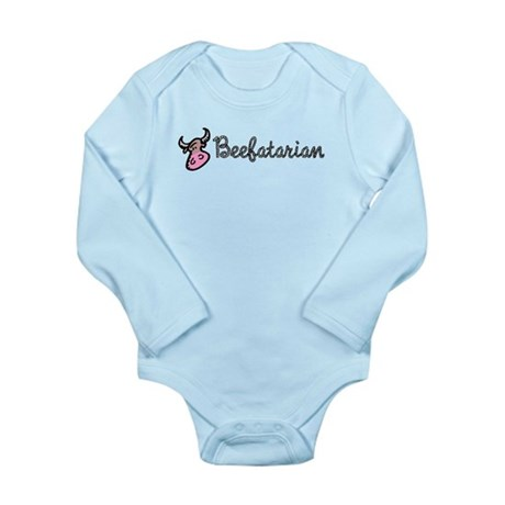 Beefatarian Long Sleeve Infant Bodysuit
