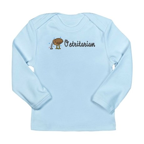 Ostrich Ostritarian Long Sleeve Infant T-Shirt