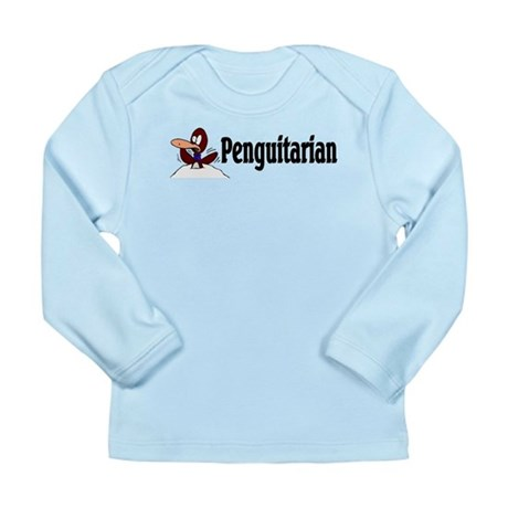 Penguitarian Penguin Long Sleeve Infant T-Shirt