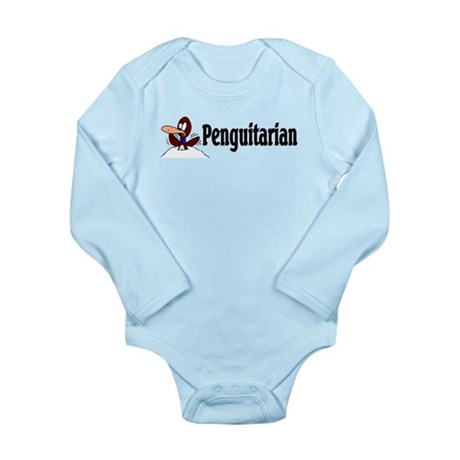 Penguitarian Penguin Long Sleeve Infant Bodysuit
