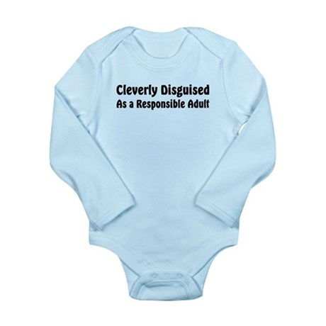 Cleverly Disguised Long Sleeve Infant Bodysuit