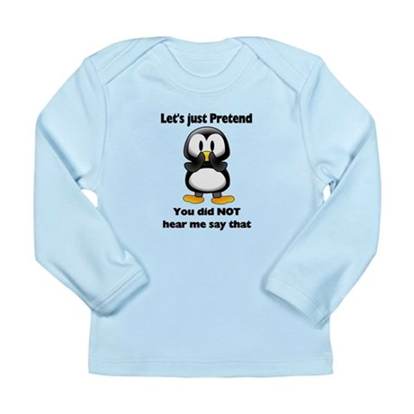 Pretend Penguin Long Sleeve Infant T-Shirt