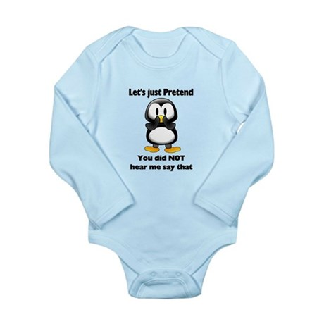 Pretend Penguin Long Sleeve Infant Bodysuit