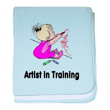 Artist in Training baby blanket