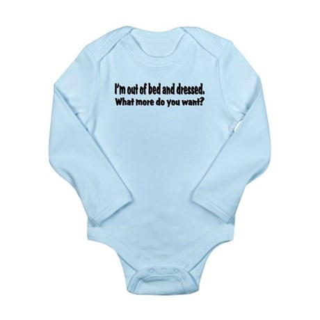 What More? Long Sleeve Infant Bodysuit