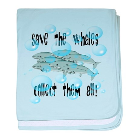 Save Whales - Collect Them Al baby blanket
