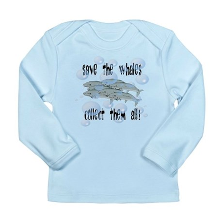 Save Whales - Collect Them Al Long Sleeve Infant T