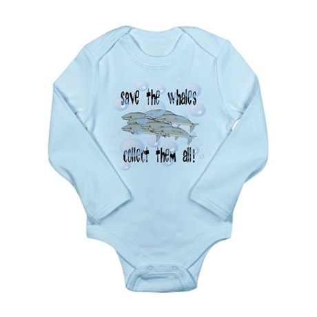 Save Whales - Collect Them Al Long Sleeve Infant B