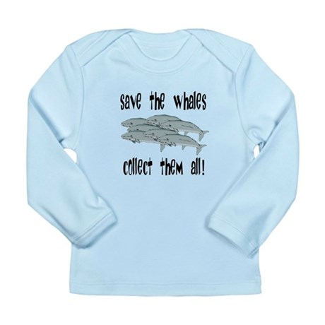 Save the Whales Long Sleeve Infant T-Shirt