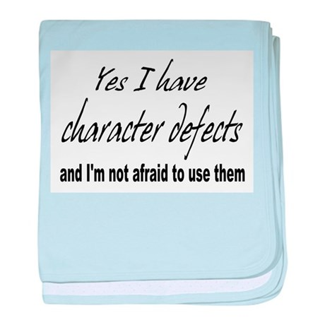 Character Defects baby blanket