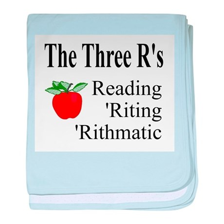 The Three R's baby blanket