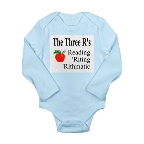 The Three R's Long Sleeve Infant Bodysuit