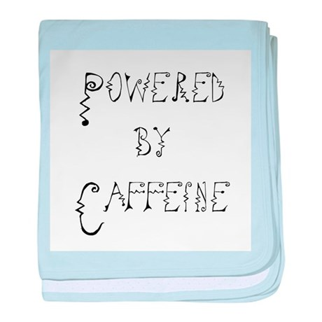 Powered by Caffeine baby blanket